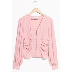 & Other Stories Mauve Rose Woven Blouse
